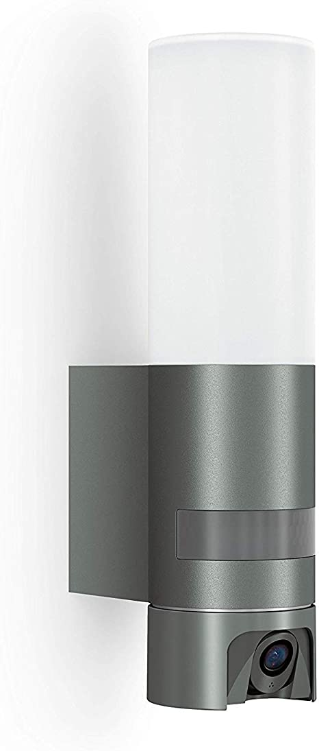 Steinel L 600 Cam Kameraleuchte Außenleuchte Gegensprechanlage überwachungskamera Infrarot Bewegungsmelder Aluminium 143 W Anthrazit