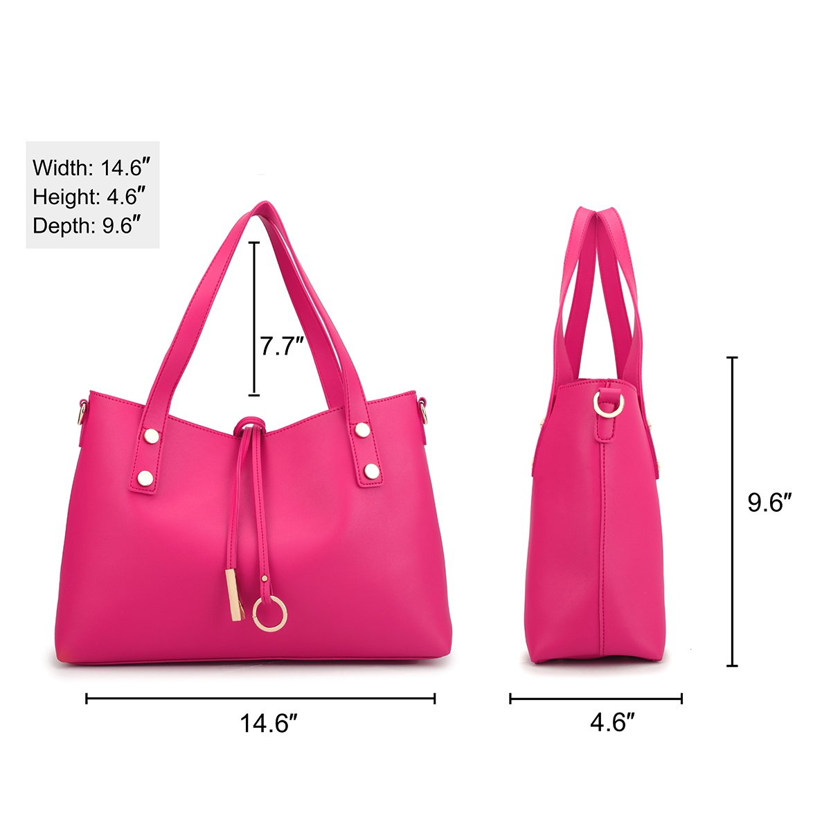 2e103d1f8152 Amazon.com: MKP Collection Faux Leather Soft Tote with Detachable ...