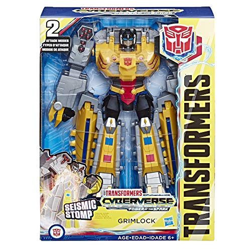 Transformers Toys Cyberverse Action Attackers Ultimate Class Grimlock Action Figure - Repeatable Seismic Stomp Action Attack - for Kids Ages 6 & Up, 11.5""