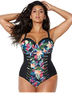 611969d569 ... Ashley Graham Boss Underwire Swimsuit. $50.00 · Swimsuits for All  Women's Plus Size Tropical Underwire One Piece Swimsuit