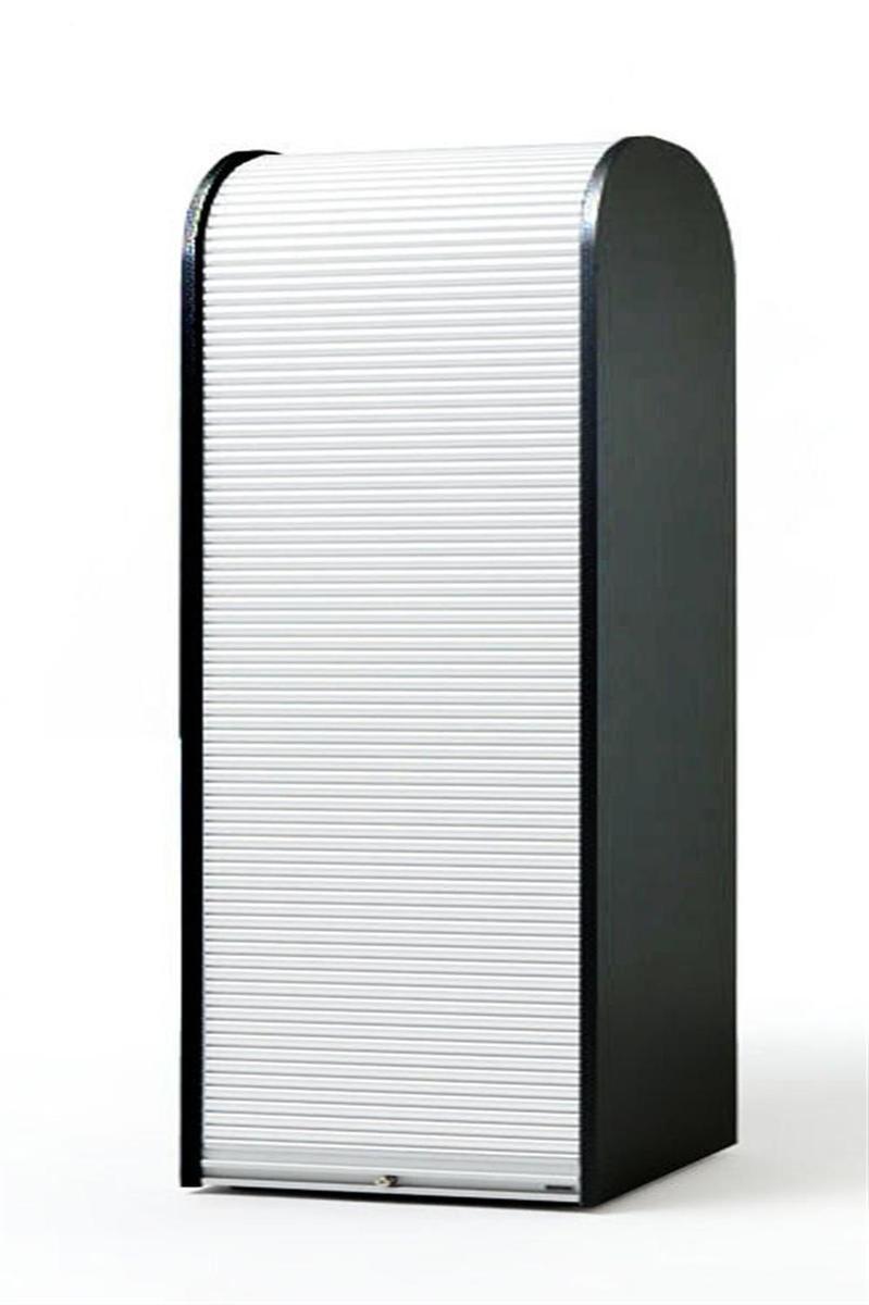 Rolladenschrank weiß  KLENK Collection - Aktenschrank -Rollladenschrank schwarz - weiß ...