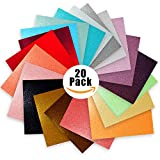 LEAVE EVERYONE IN AWE AT YOUR AMAZING PROJECTS! Your projects will grab major attention with Craftopia's Glitter Craft Vinyl Sheets. Achieve dazzling shine & glitter effects instantly (without the glitter mess!) with this 20 Pack of assor...