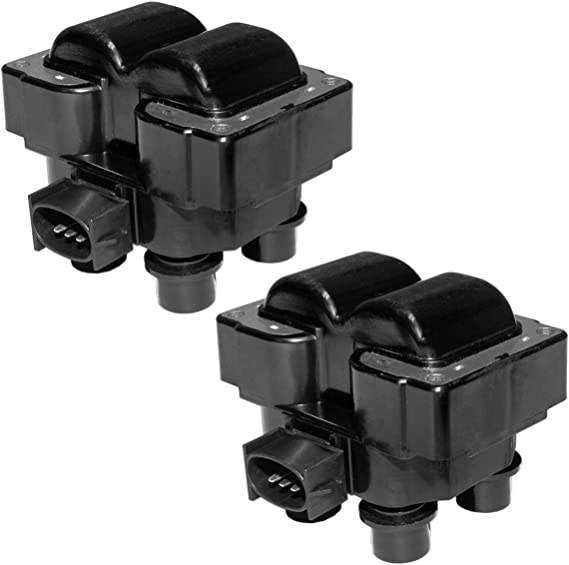 MAS Pack of 2 Ignition Coils for Ford Lincoln Mercury Compatible with C924 FD-487 FD487 DG530