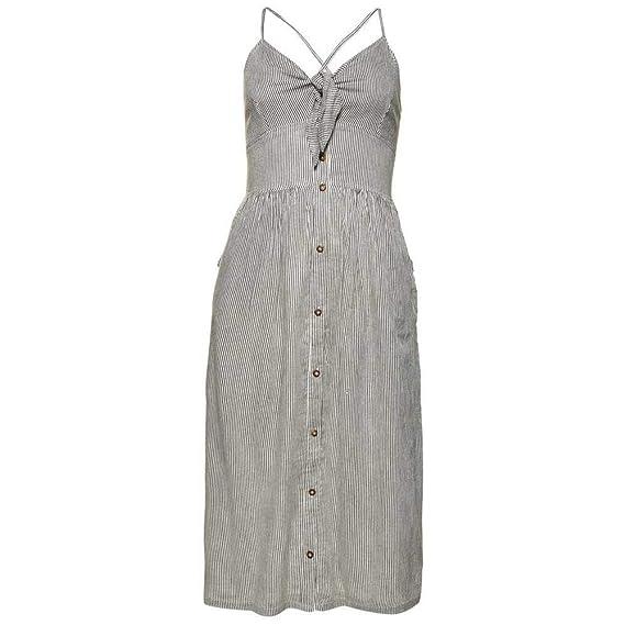 9b43572985b Superdry Jayde Womens Black White TIE Front Womens MIDI Dress  Amazon.co.uk   Clothing