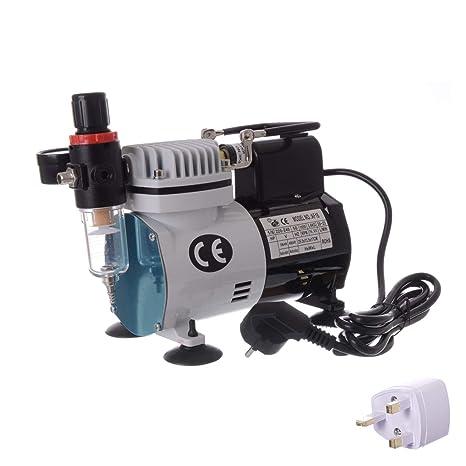 Aerógrafo Mini pistola pulverizadora Aerógrafo Compresor de aire con ventilador sin aceite Máquina de compresor de aire: Amazon.es: Bricolaje y herramientas