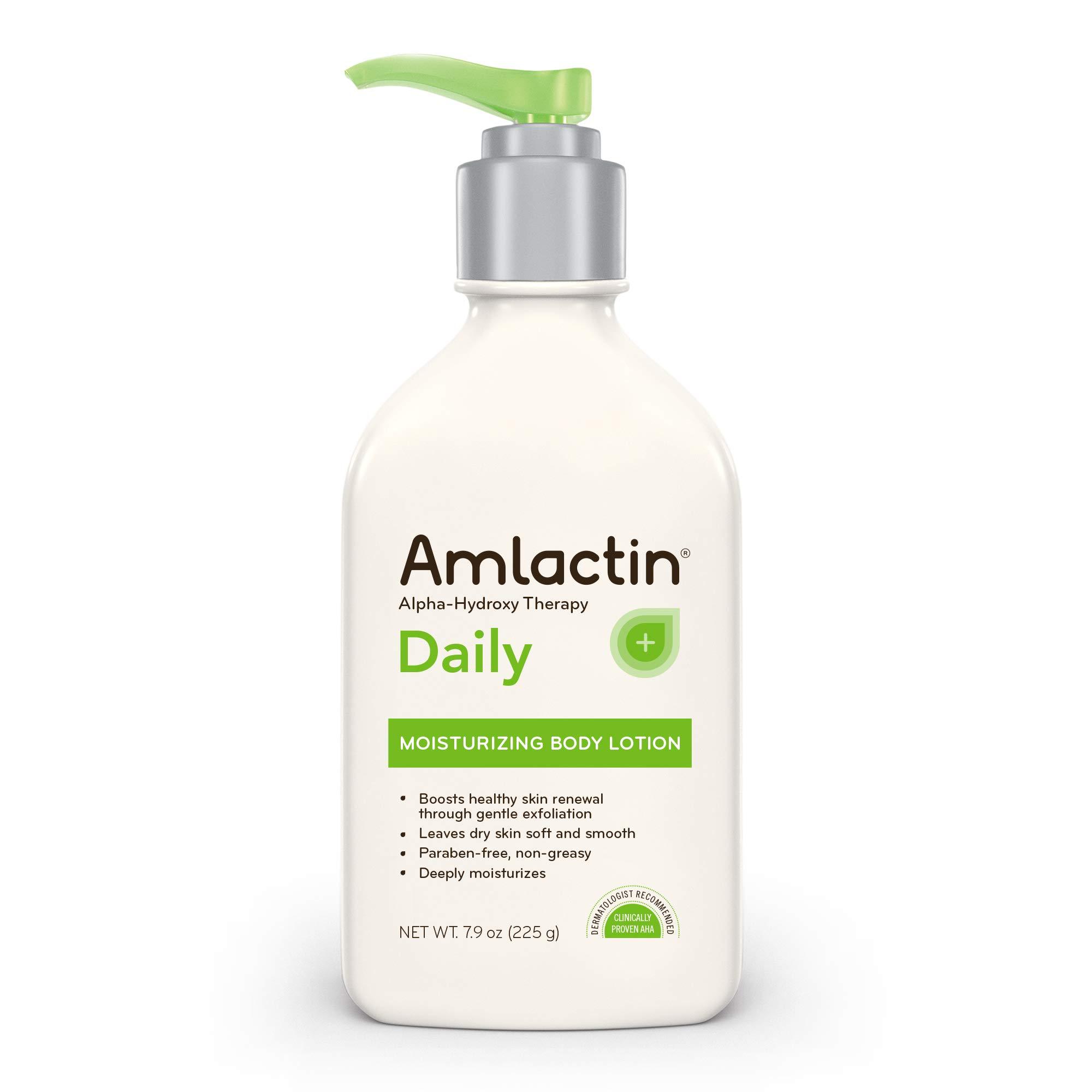 AmLactin Daily Moisturizing Body Lotion, 7.9 Ounce Bottle, Paraben Free by AmLactin