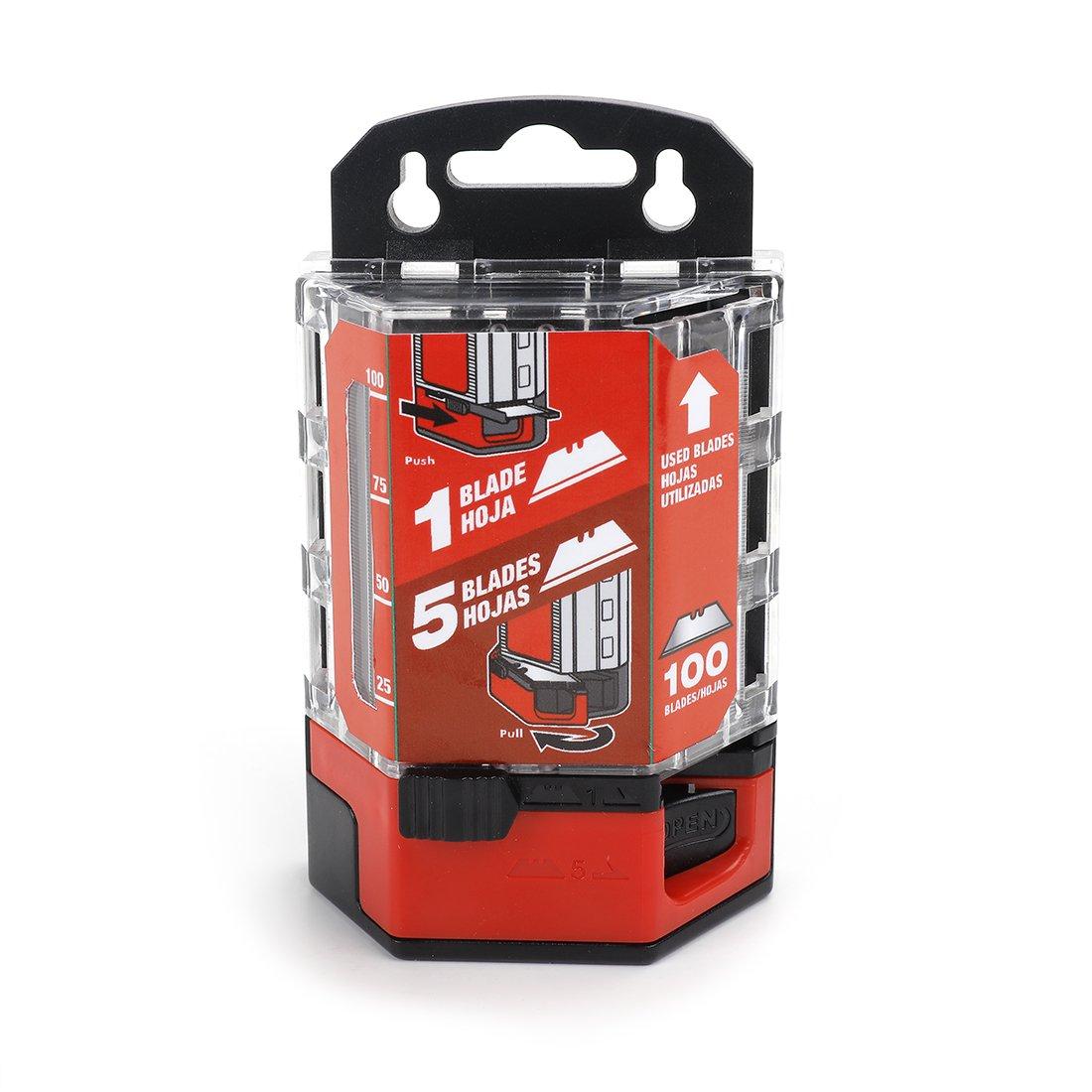 Goldblatt 100-Pack Heavy Duty Utility Blades Premium Tempered SK2M Steel with Dispenser by Goldblatt
