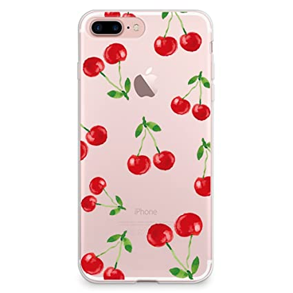 sports shoes 6a19a 26e25 CasesByLorraine iPhone 8 Plus Case, iPhone 7 Plus Case, Cherry Pattern  Clear Transparent Case Flexible TPU Soft Gel Protective Cover for Apple  iPhone ...