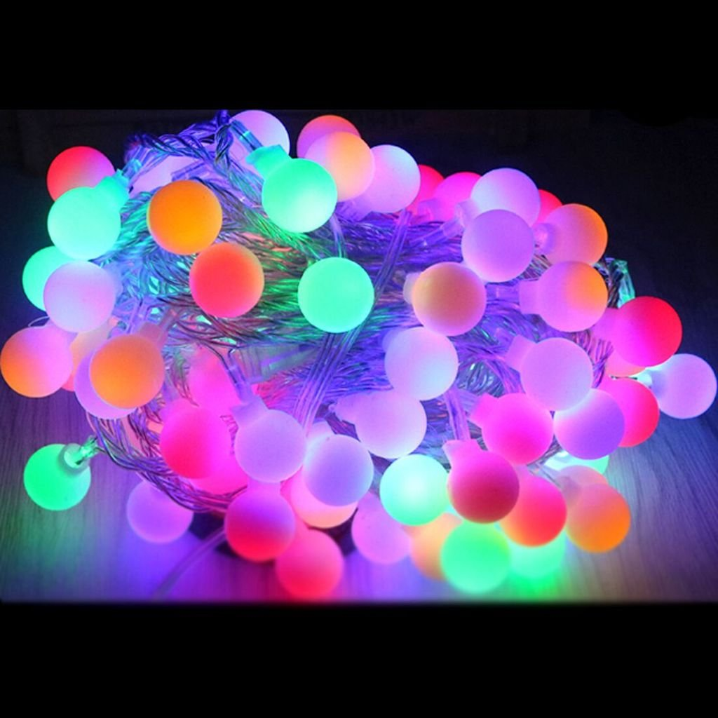 FUT 33FT 100 LEDs Globe Waterproof Starry Light Ball Fairy Light, 110V USA Plug LED String Light for Wedding, Party, Outdoors & Indoors Bedroom, Patio, Garden, Gate, Yard