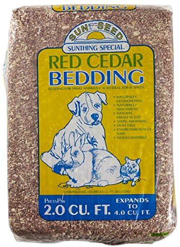 (Sun Seed Company SSS18020 Aromatic Red Cedar Press Pack 3000 Small Animal Bedding, 4 Cubic Feet)