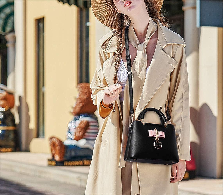 RFVBNM Bag female fashion zipper bow simple wild Messenger bag shoulder bag handbag