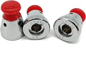 TIHOOD 3PCS Universal Pressure Cooker Relief Jigger Valve 1.5 Inch High (Red)