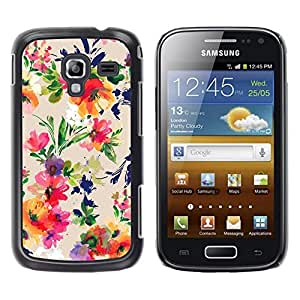 Be Good Phone Accessory // Dura Cáscara cubierta Protectora Caso Carcasa Funda de Protección para Samsung Galaxy Ace 2 I8160 Ace II X S7560M // Vibrant Colors Fabric