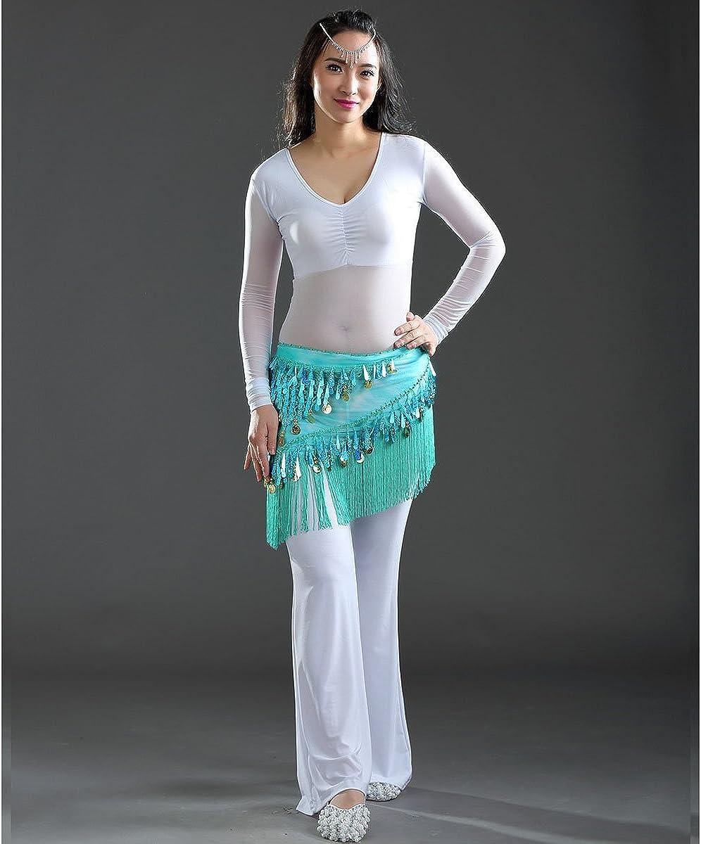Aivtalk Women Wrap Skirt Belly Dance Hip Scarf Sequin Gypsy Belt Costumes