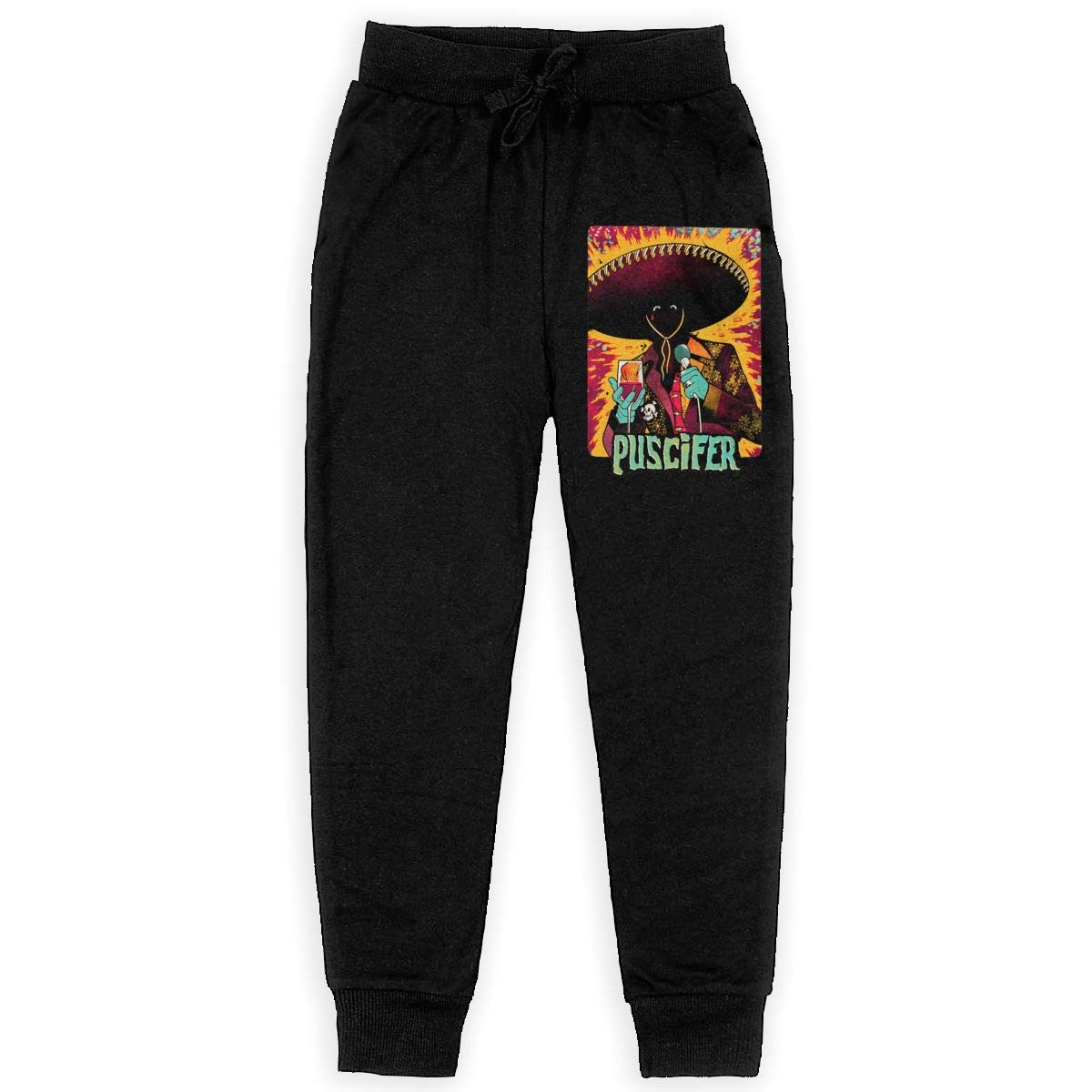 Unisex Young Puscifer Elastic Music Band Fans Daily Sweatpants for Boys Gift with Pockets