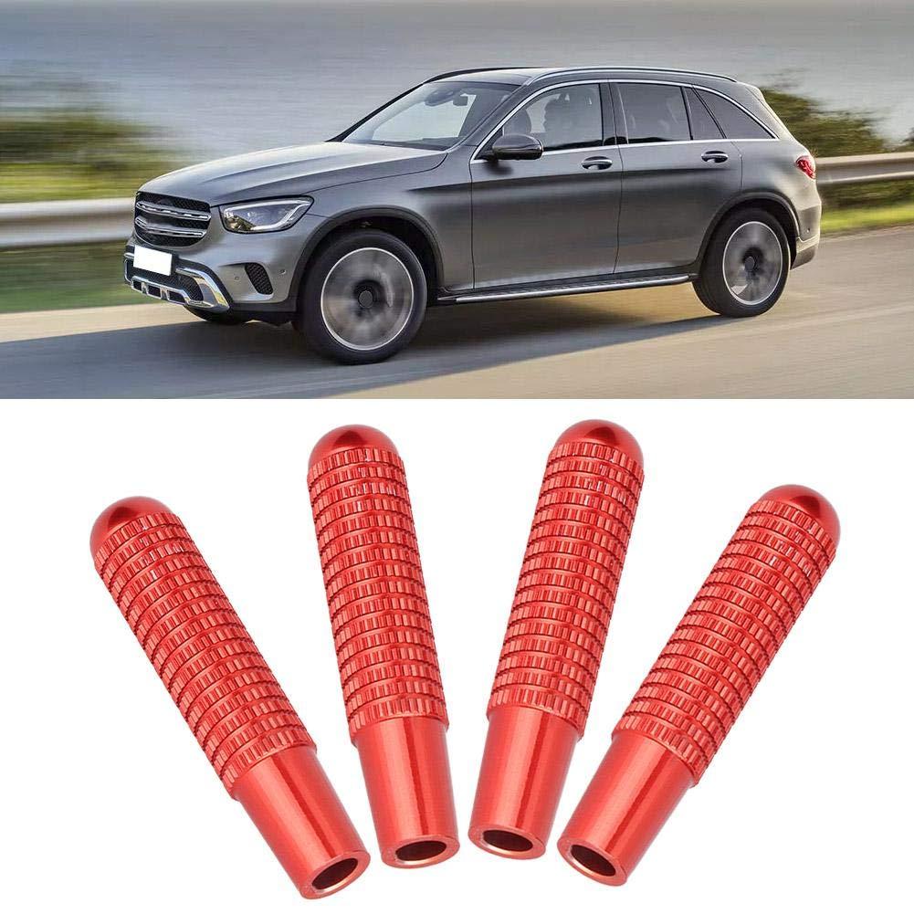 4pcs 9.5mm Aluminium Alloy Car Interior Door Lock Pin Knob Cover Fit for Mercedes Benz GLC GLE GLS Vito E//C Class Aramox Door Lock Pin Red