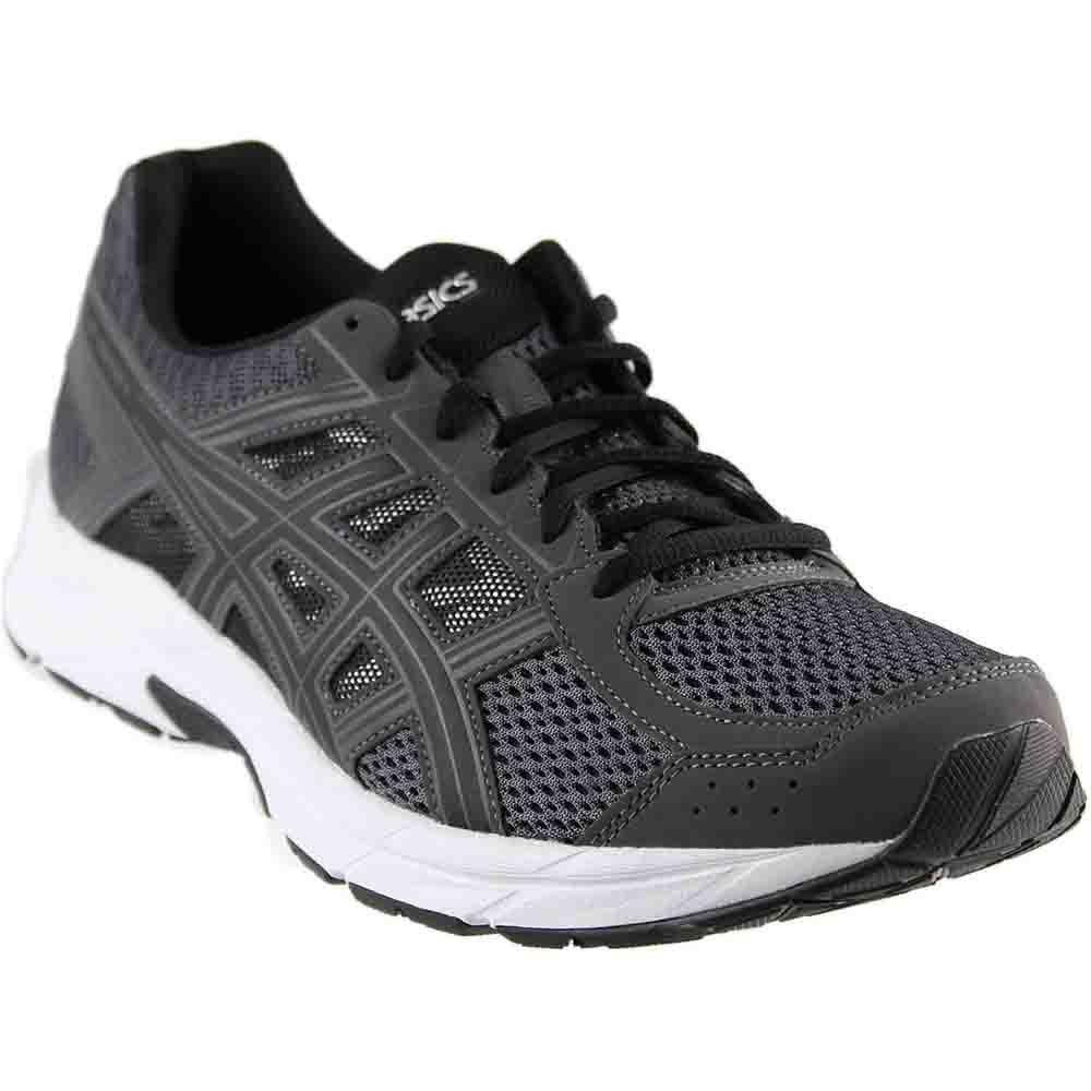 ASICS Mens Gel-Contend 4 Running Shoe, Dark Grey/Black/Carbon, 6.5 Medium US