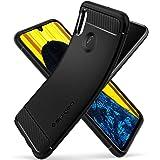 Spigen [Rugged Armor] Case for Huawei P Smart 2019, Original Patent Design Slim Protection Flexible Black TPU Phone Case Cover for Huawei P Smart 2019 Case