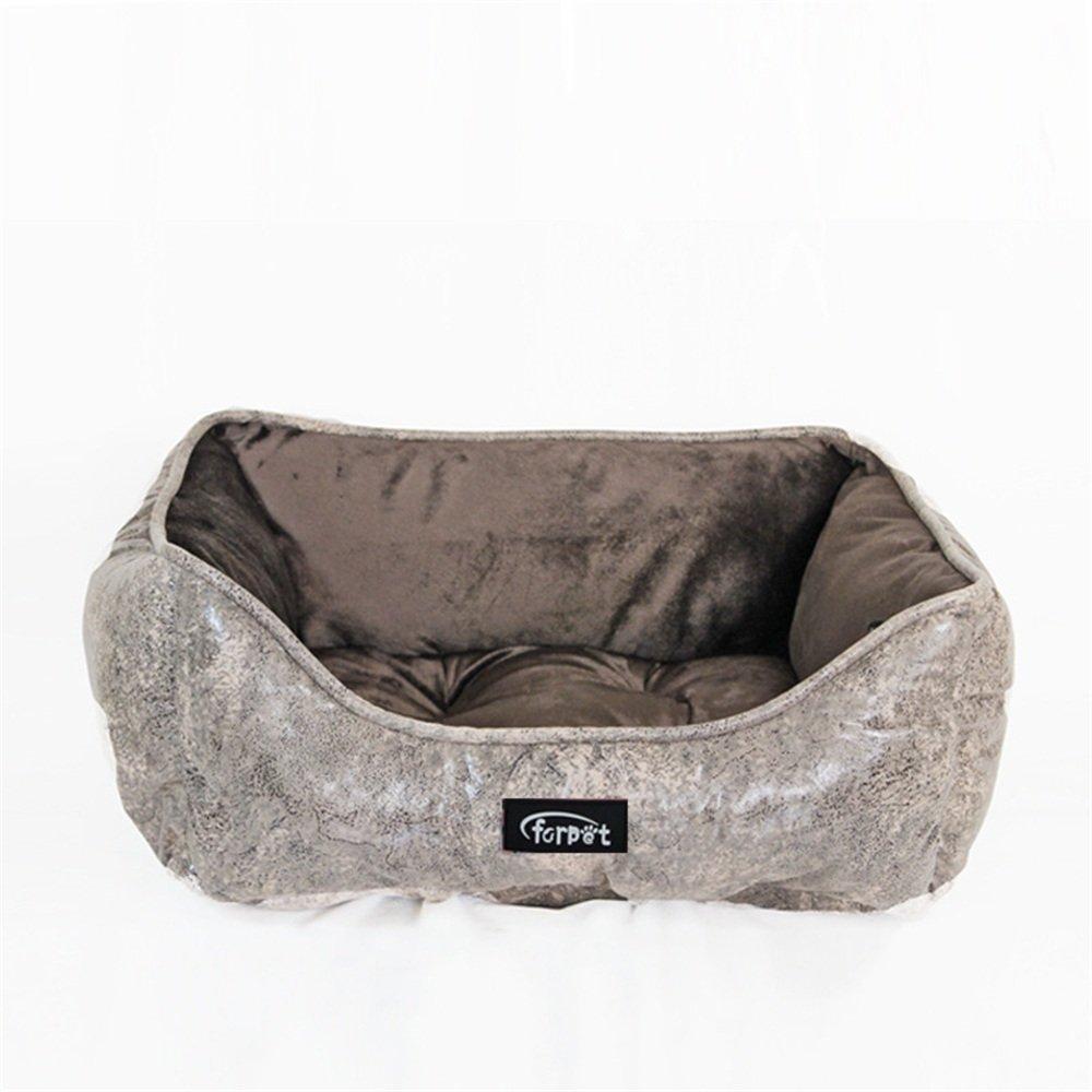 Brown Wenzhihua Warm pet nest Suede Imitation Super Soft Pet Kennel Dog Pad Pet Nest Pet Supplies soft (color   Brown)