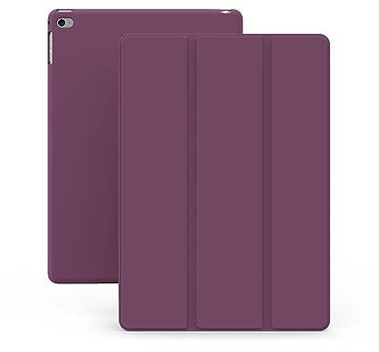 KHOMO Funda iPad Mini 4 - Carcasa Morada Ultra Delgada y Ligéra con Soporte y Smart Cover para Nuevo Apple iPad Mini 4 - Dual Purple