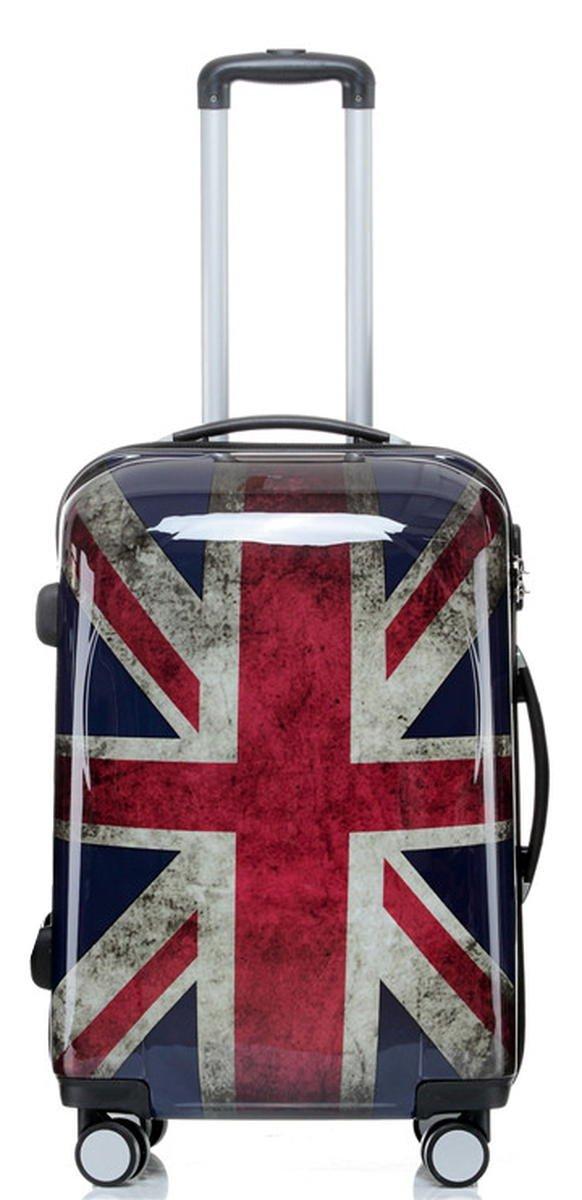 Set jusqu'á 3 Valise rigide de voyage bagage à roulettes 360° policarbonate ABS (S, Léopard)