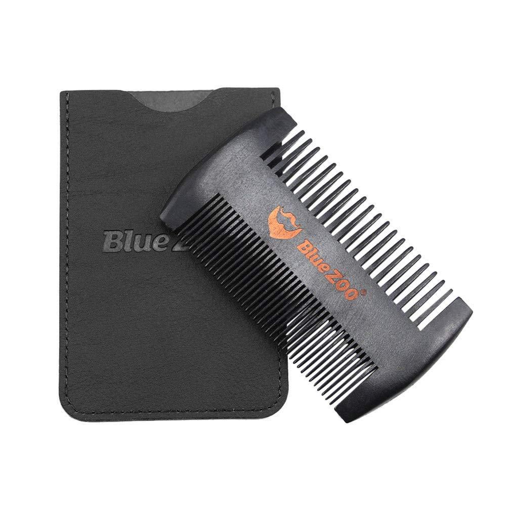LiPing Pear Wood Beard Comb Anti Static Wood Pocket Comb Fine Coarse Teeth For Beard For Beard Hair & Mustaches Dry Home Professional Trim (Black)