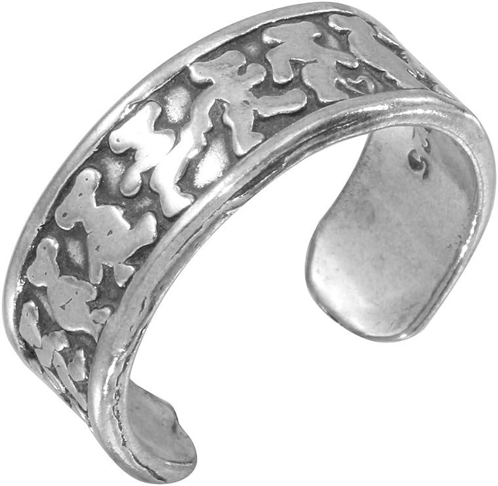 Princess Kylie 925 Sterling Silver Walking Feet Ring