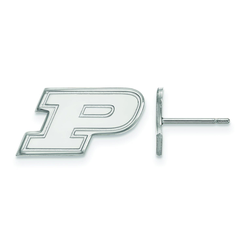 Purdue Extra Small ( 3 / 8インチ)ポストイヤリング14 Kホワイトゴールド   B01IYEUO18