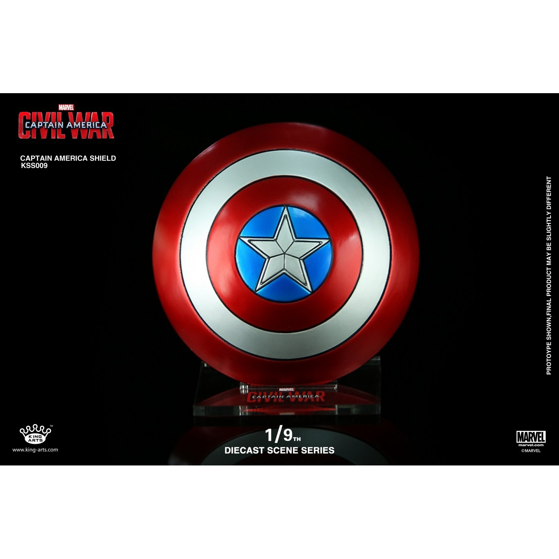 King Arts- Captain America Civil War Mini Bouclier Figurine, 4897056411548, 7,5 cm