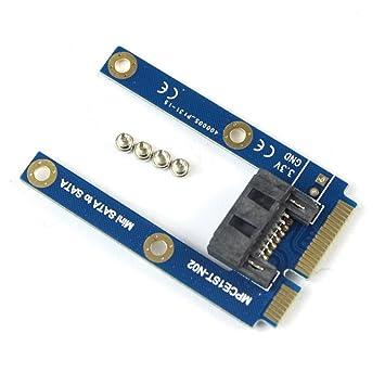 JMT Mini PCI-E mSATA SSD a la Unidad de Disco Duro Plana SATA 7pin ...