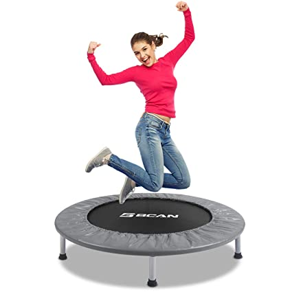 "BCAN 38"" Foldable Mini Trampoline, Fitness Trampoline - The Most Economical Rebounder Trampoline"