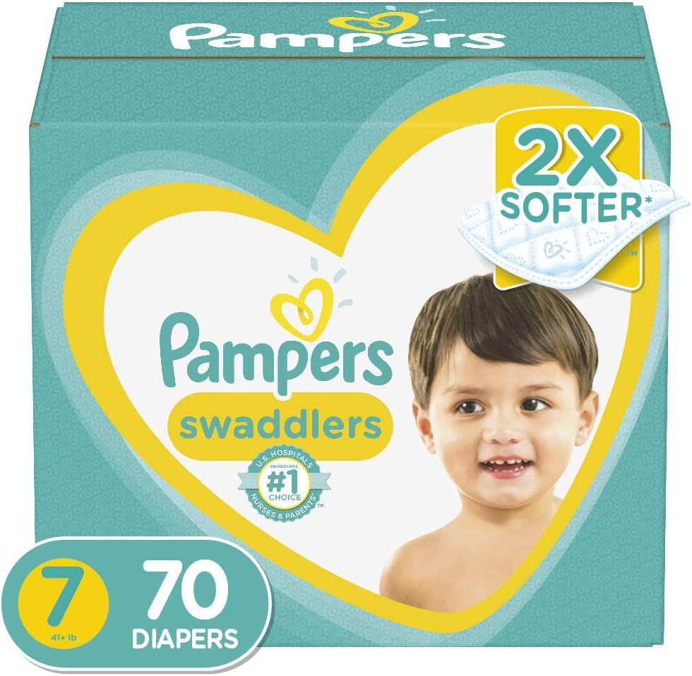 Diapers Size 7, 70 Count - Pampers Swaddlers Disposable Baby Diapers, Enormous Pack