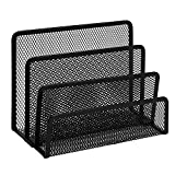 TOROTON Folders Letter Tray, 3 Compartments Mesh Metal Office Desk Organizer Letter Tray -Black