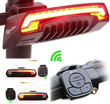 Cycling 5 LED USB Rechargeable Bike Bicycle Tail Warning Light Rear Safety Best