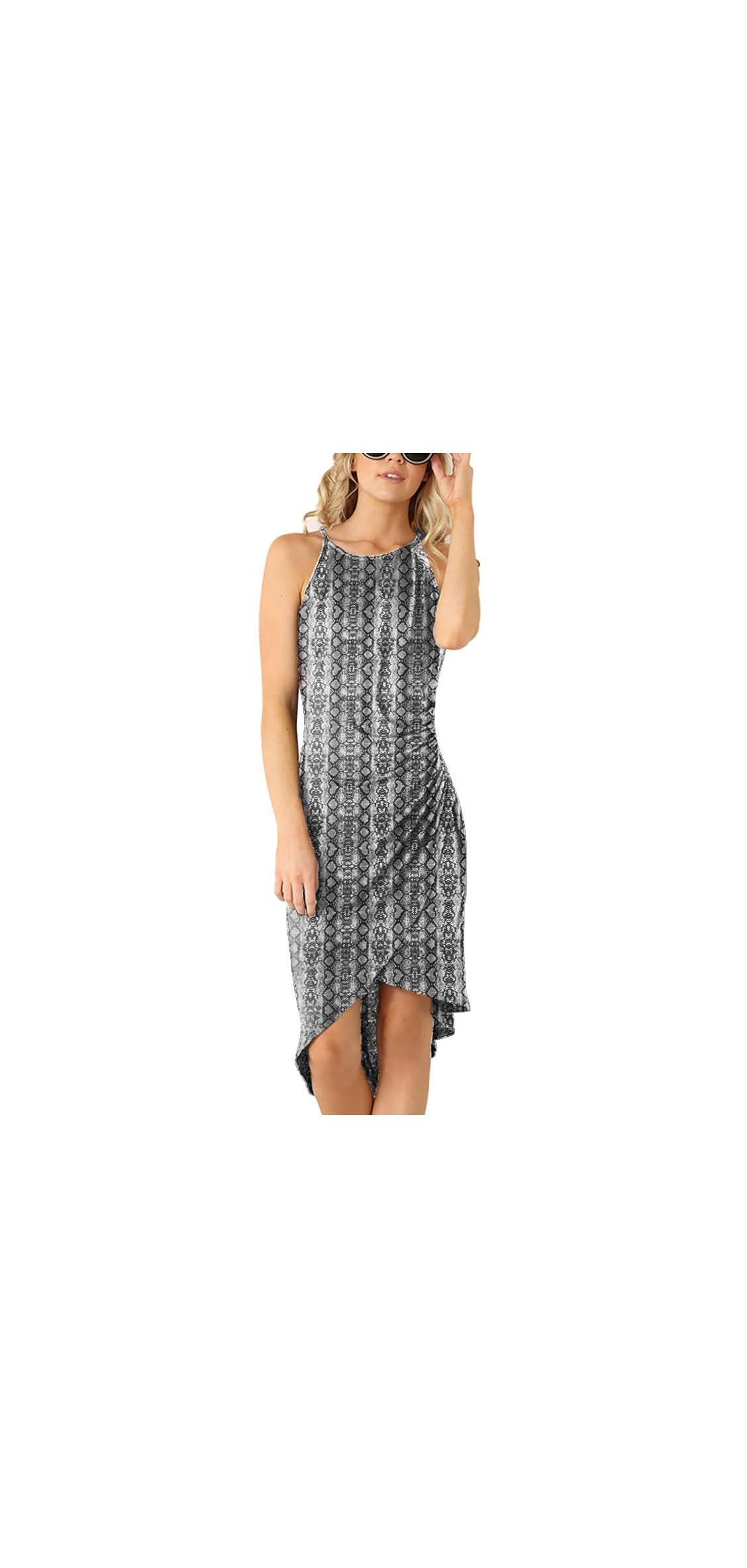 Women's Casual Spaghetti Strap Summer Dress Bodycon