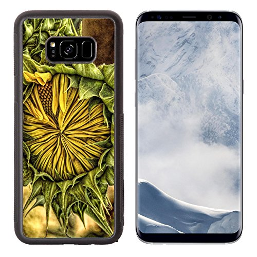 8 Plus Aluminum Backplate Bumper Snap Case IMAGE of flower nature sunflower plant agriculture yellow green flora summer seed blossom leaf beautiful bloom fl ()