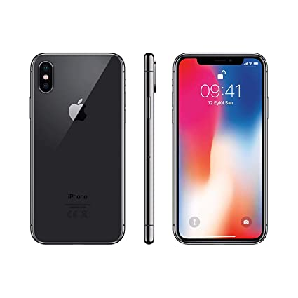 new style d52f8 3b024 Apple iPhone X, GSM Unlocked, 256GB - Space Gray (Renewed)
