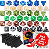 Book cover from Dungeons and Dragons DnD Dice Set (42pcs) - RPG MTG Dice - D&D 5e Polyhedral Dice - Durable Acrylic D&D Dice with d d Dice Black Bags and Roleplaying DnD 5e Extra Pack - Die Set - DicerT by Wizards RPG Team