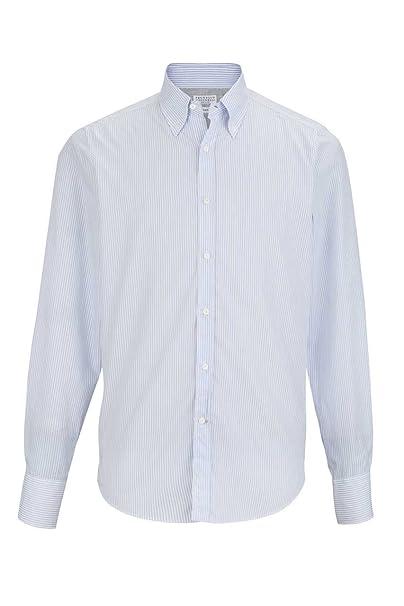 BRUNELLO CUCINELLI Camisa Italian FIT, Color: Celeste ...