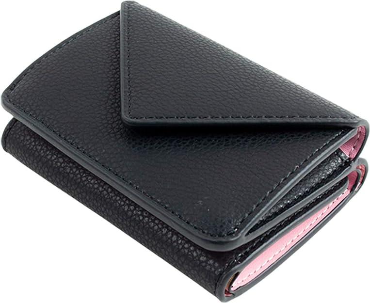 MALTA 三つ折り財布 ミニ財布 メンズ レディース コンパクト 小さい 財布 レザー 牛革 ボタン型 小銭入れ カード入れ 大容量 ツートンカラー 3つ折り