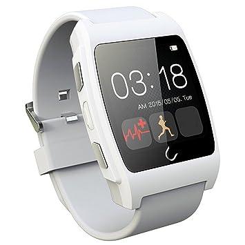 Vococal UX Smart Bluetooth Reloj con Monitor/Podómetro/Prueba de frecuencia cardíaca para iPhone