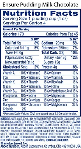 Ensure Pudding, Creamy Milk Chocolate, 4-Ounce Cup, 4 Count, (Pack of 12) by Ensure (Image #3)