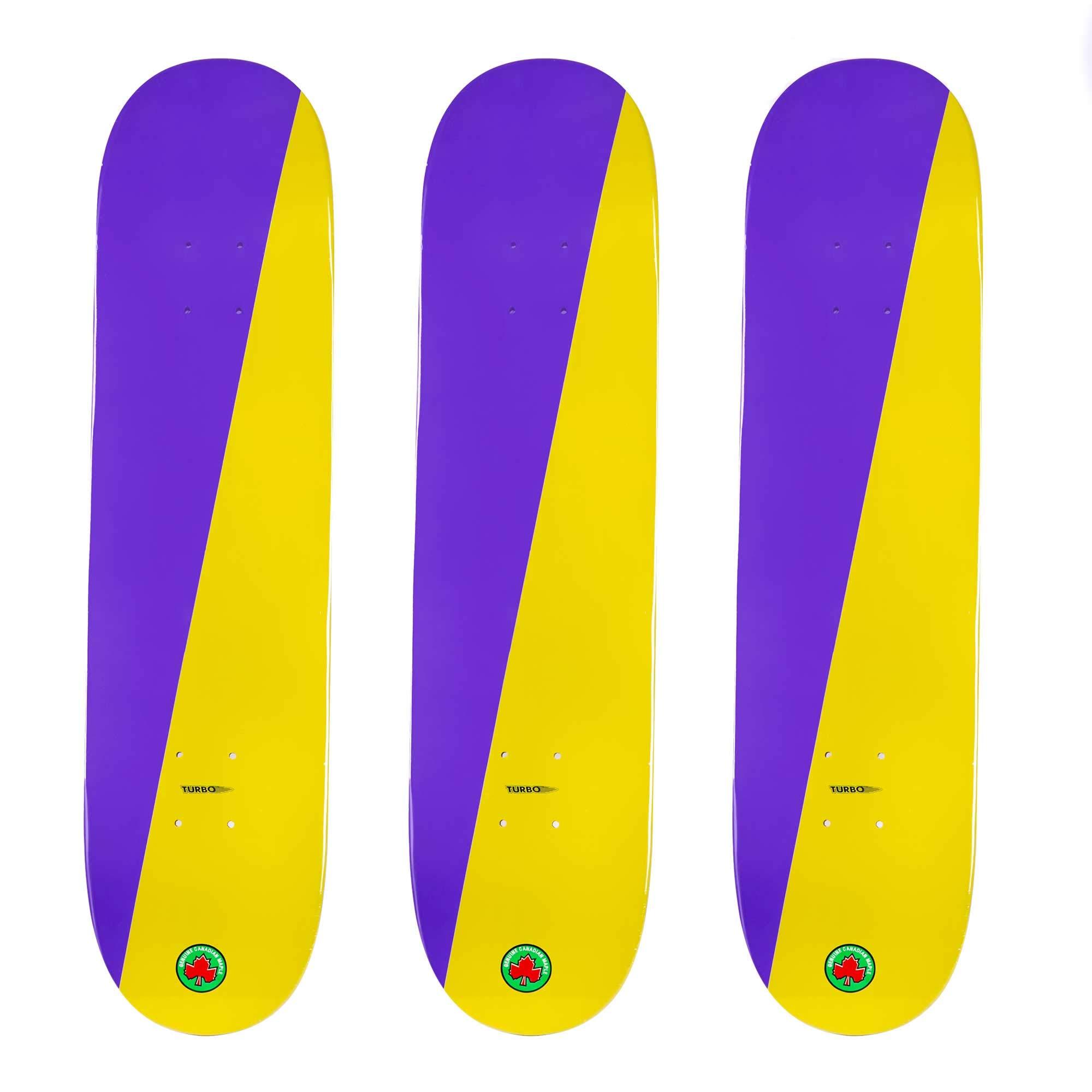 Cal 7 Blank Maple Skateboard Decks (Purple and Yellow, 7.5 inch)
