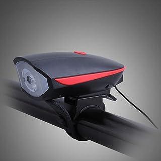 elegantstunning 2 dans 1 Cas USB Rechargeable Lampe de Vélo avec Klaxonner,Orange
