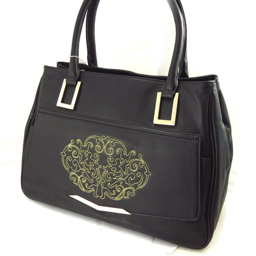 Leather bag Jacques Esterel black.
