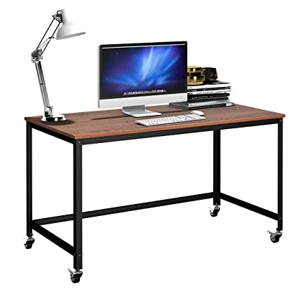 Bon Tangkula Computer Desk, Wood Portable Compact Simple Style Home Office Study  Table Writing Desk Workstation