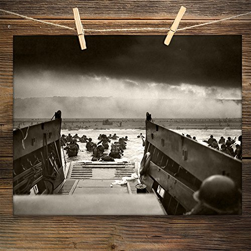 Into the Jaws of Death - D-Day (1944) Vintage - 11x14 Unframed Print - Perfect Vintage Home Decor Or Gift for Veterans