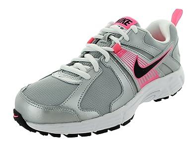 New Nike Dart 10 Silver/White/Pink Girls 12