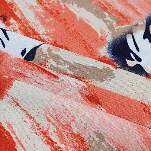Femme Medium Novias Painting Orange Jupe Trapze Boutique XL WH8fS8ta