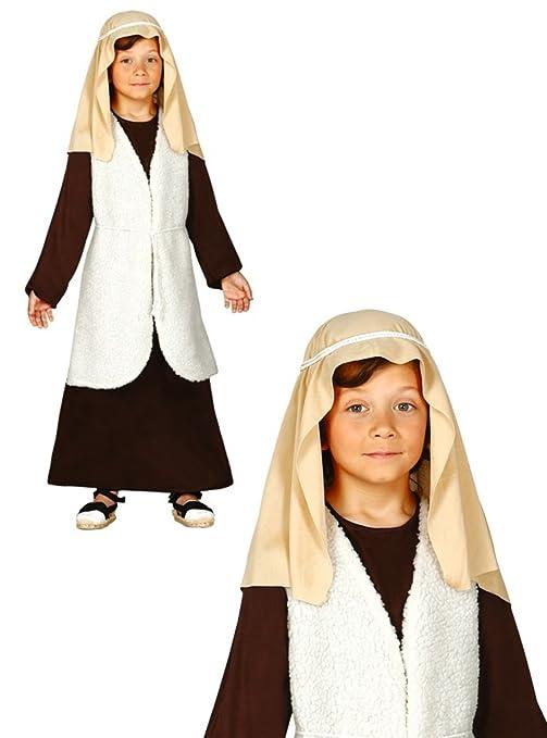 8f616aa51fc66 Costume da San Giuseppe bambino recita pastore Presepe vivente 7-9 anni